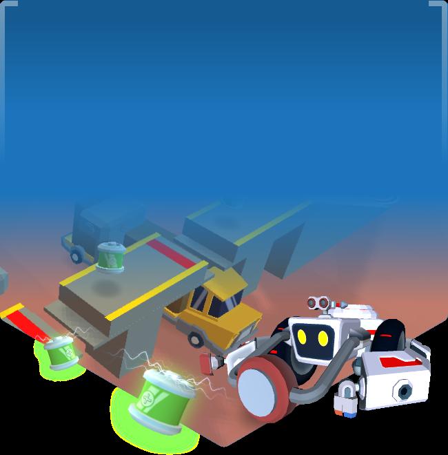 Virtual game environment for Cyber Robotics